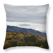 Alaska Highway At Lewes River Bridge  Throw Pillow