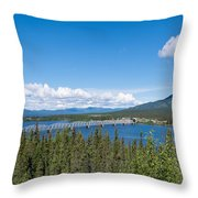 Alaska Highway Steel Bridge Teslin Yukon Canada Throw Pillow
