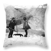 Alaska Hunters Throw Pillow