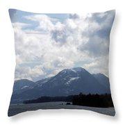 Alaska Inside Passage Throw Pillow