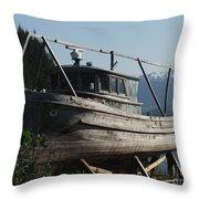 Alaska Ketchikan Dry Dock Throw Pillow