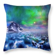 Alaska Northern Lights  Throw Pillow