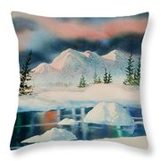 Alaska Panorama Throw Pillow by Teresa Ascone