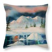 Alaska Panorama Throw Pillow
