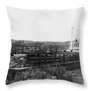 Alaska Riverboat Throw Pillow