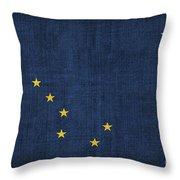 Alaska State Flag Throw Pillow by Pixel Chimp