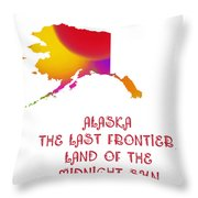Alaska State Map Collection 2 Throw Pillow
