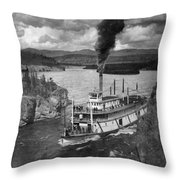 Alaska Steamboat, 1920 Throw Pillow