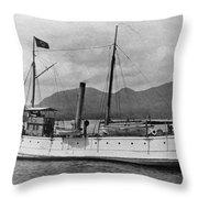 Alaska Steamboat Throw Pillow