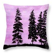 Colorful - Alaska - Sunset Throw Pillow