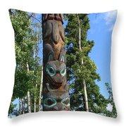 Alaska Totem Throw Pillow