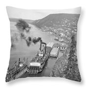 Alaska Waterfront Throw Pillow