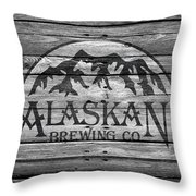 Alaskan Brewing Throw Pillow