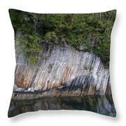 Alaskan Cliff Throw Pillow