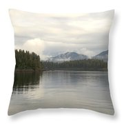 Alaskan Island Reflection Throw Pillow