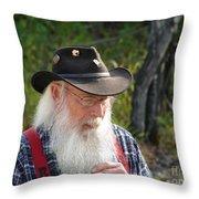 Alaskan Miner Throw Pillow