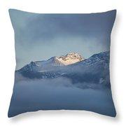 Alaskan Mountains Throw Pillow