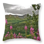 Alaskan Summer Throw Pillow