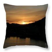 Alaskan Sunset Throw Pillow