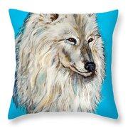 Alaskan White Wolf Original Forsale Throw Pillow