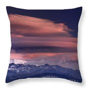Alayos Mountains At Sunset In Sierra Nevada Throw Pillow