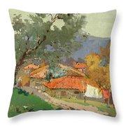 Albanian Countryside Throw Pillow