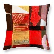 Albanian Figurative Simboles Reworked Throw Pillow