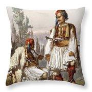 Albanians, 1865 Throw Pillow