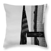 Albany Street In Black And White Throw Pillow
