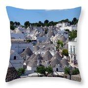 Alberobello's Trulli Throw Pillow