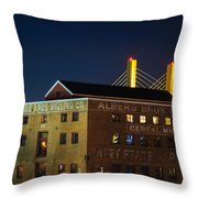 Albers Bros. Cereal Millers Throw Pillow