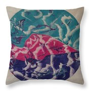 Albers Throw Pillow