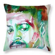 Albert Ayler - Watercolor Portrait Throw Pillow