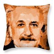 Albert Einstein 01 Throw Pillow