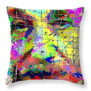 Albert Einstein - Atomic Particles 01 Throw Pillow