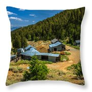 Alberta Level On Mackay Mine Tour Throw Pillow