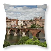 Albi France Pont Vieux Throw Pillow