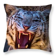 Albino Fangs Throw Pillow