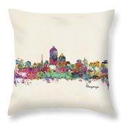 Albquerque New Mexico Skyline Pillow Throw Pillow