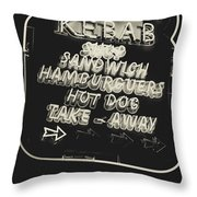 Albufeira Street Series - Doner Kebab II Throw Pillow