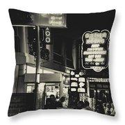 Albufeira Street Series - The Cottage I Throw Pillow