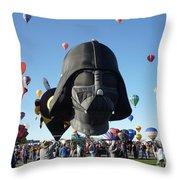 Albuquerque International Balloon Fiesta With Darth Throw Pillow