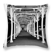 Albury Station - Long Undercover Platform Throw Pillow