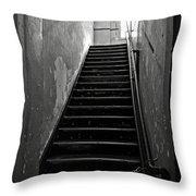 Alcatraz Hospital Stairs Throw Pillow