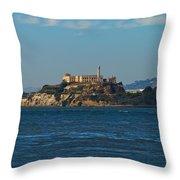 Alcatraz Island In San Francisco Bay Throw Pillow