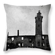 Alcatraz Island Lighthouse Throw Pillow