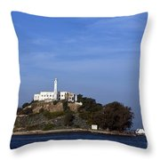 Alcatraz Island San Francisco Throw Pillow