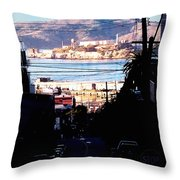 Alcatraz - So Close Yet So Far Throw Pillow