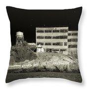 Alcatraz The Rock Sepia 2 Throw Pillow