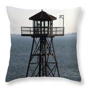 Alcatraz Watch Tower Throw Pillow